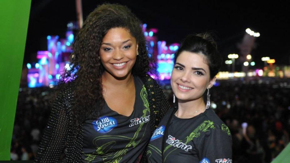 Juliana Alves e Vanessa Giacomo na área Vip na cidade do Rock