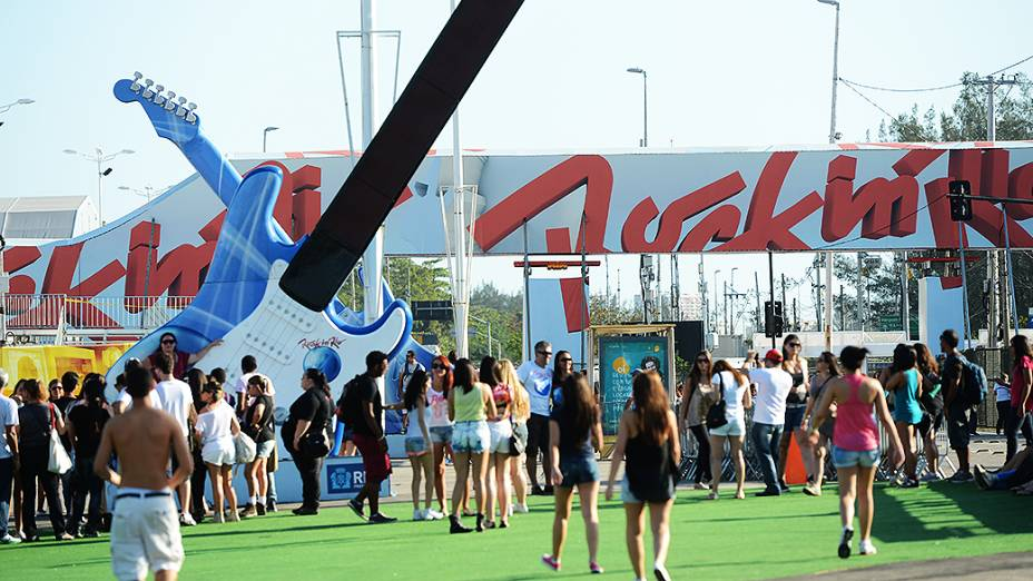 Movimentação no primeiro dia de Rock in Rio