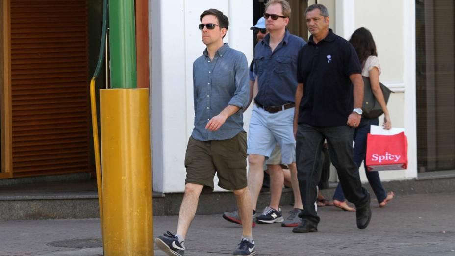 Ed Helms passeia no Rio de Janeiro