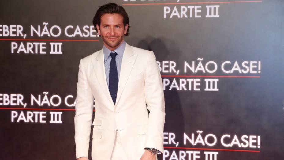 Bradley Cooper na pré-estreia de Se Beber, Não Case ! - Parte III, no Cine Odeon, no Rio