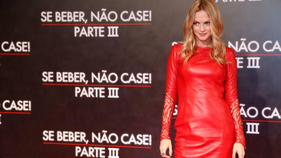 Heather Graham chega ao Cine Odeon, no Rio, para a pré-estreia de Se Beber, Não Case ! - Parte III