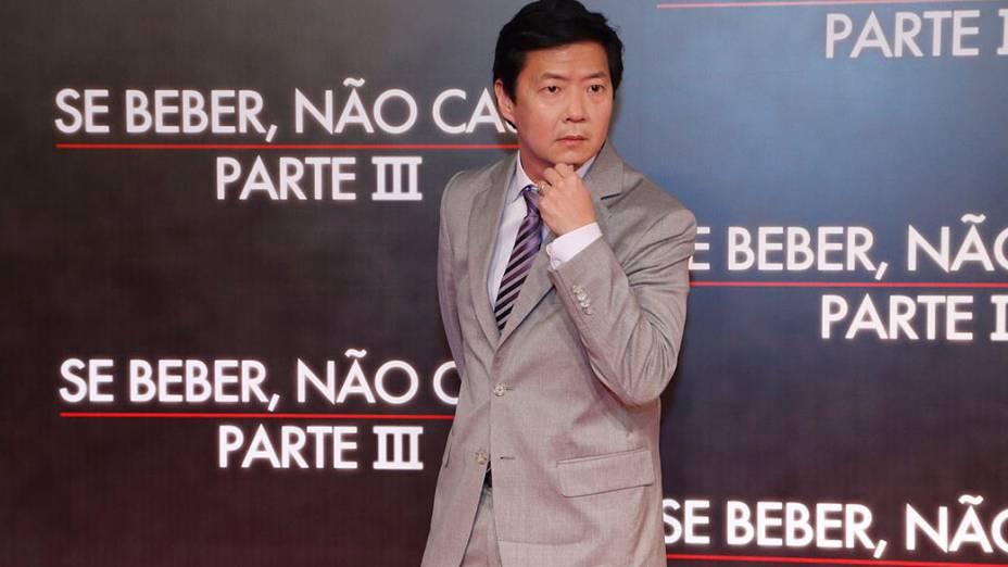 Ken Jeong (o vilão amalucado Chow) na pré-estreia do filme Se Beber, Não Case! - Parte III, no Rio