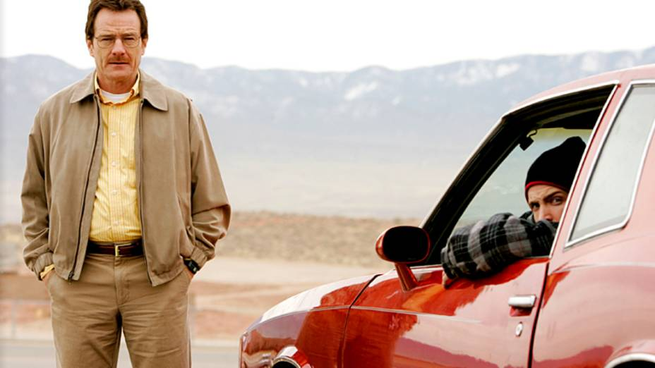 Walter White (Bryan Cranston) e Jesse Pinkman (Aaron Paul) na primeira temporada de Breaking Bad