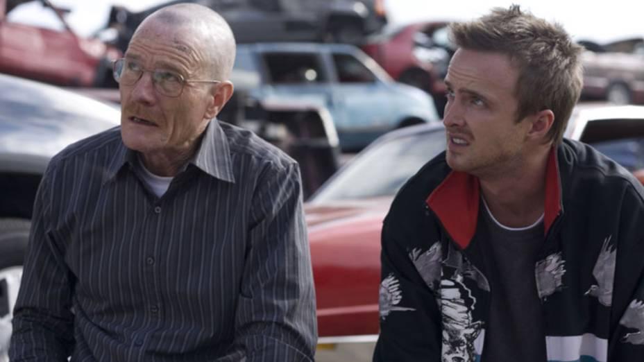 Walter White (Bryan Cranston) e Jesse Pinkman (Aaron Paul) na segunda temporada de Breaking Bad
