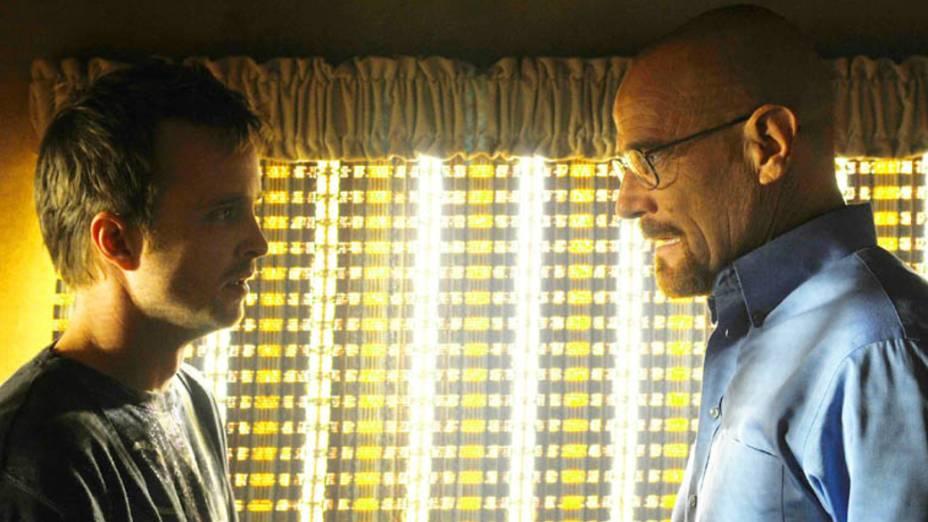 Jesse Pinkman (Aaron Paul) e Walter White (Bryan Cranston) na terceira temporada de Breaking Bad