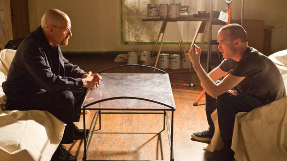 Walter White (Bryan Cranston) e Jesse Pinkman (Aaron Paul), na quarta temporada de Breaking Bad