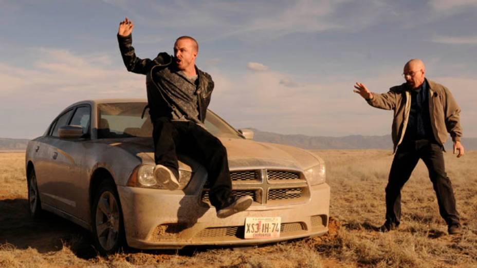 Jesse Pinkman (Aaron Paul) e Walter White (Bryan Cranston), na quinta temporada de Breaking Bad