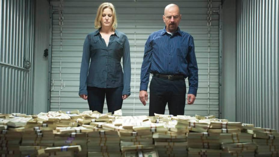 Skyler White (Anna Gunn) e Walter White (Bryan Cranston), na quinta temporada de Breaking Bad