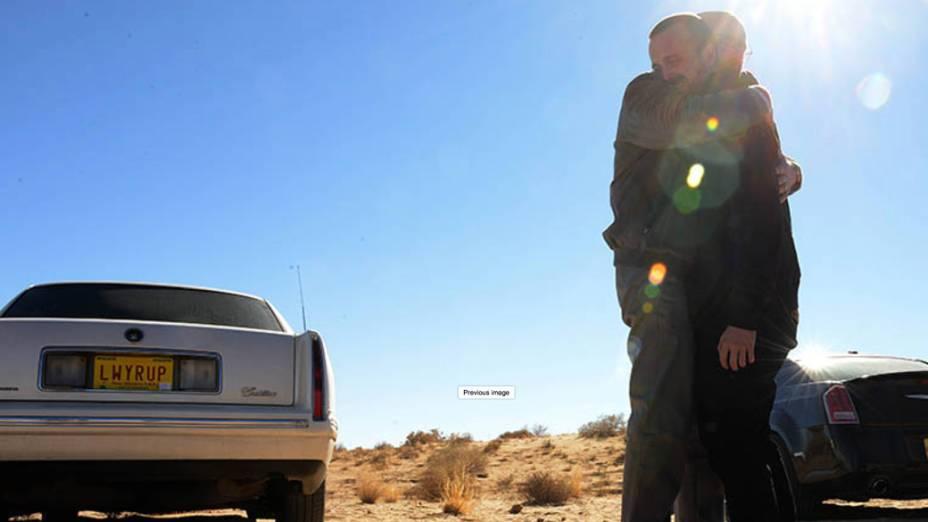 Walter White (Bryan Cranston) e Jesse Pinkman (Aaron Paul), na quinta temporada de Breaking Bad