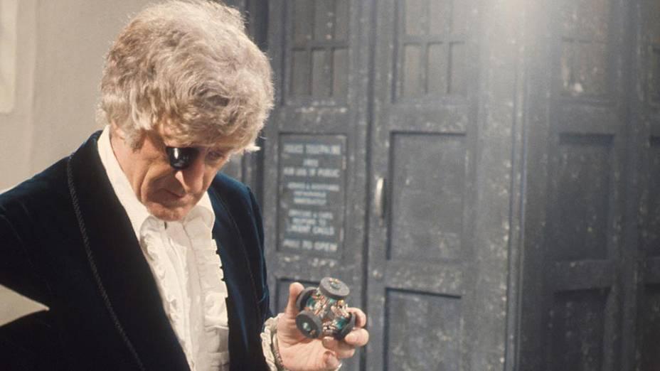 O terceiro Doctor (Jon Pertwee), na década de 1970