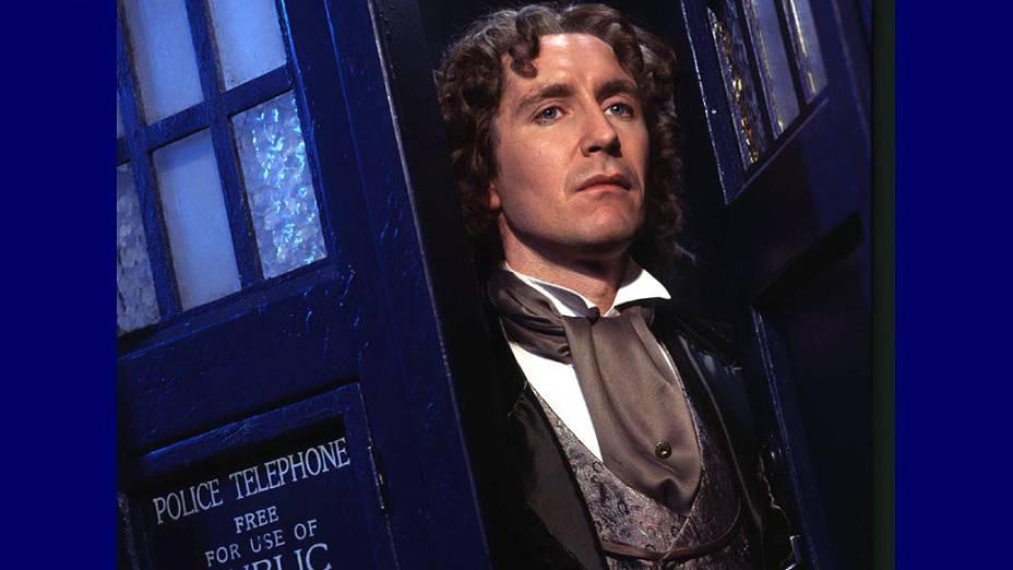 Paul McGann em cena do filme Doctor Who - O Senhor do Tempo, de 1996