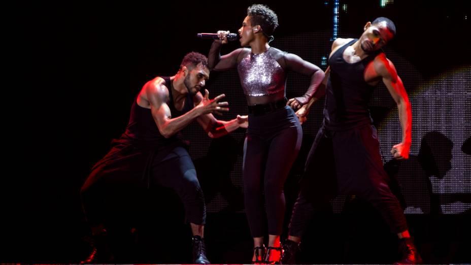 Alicia Keys se apresenta no Espaço das Américas em São Paulo