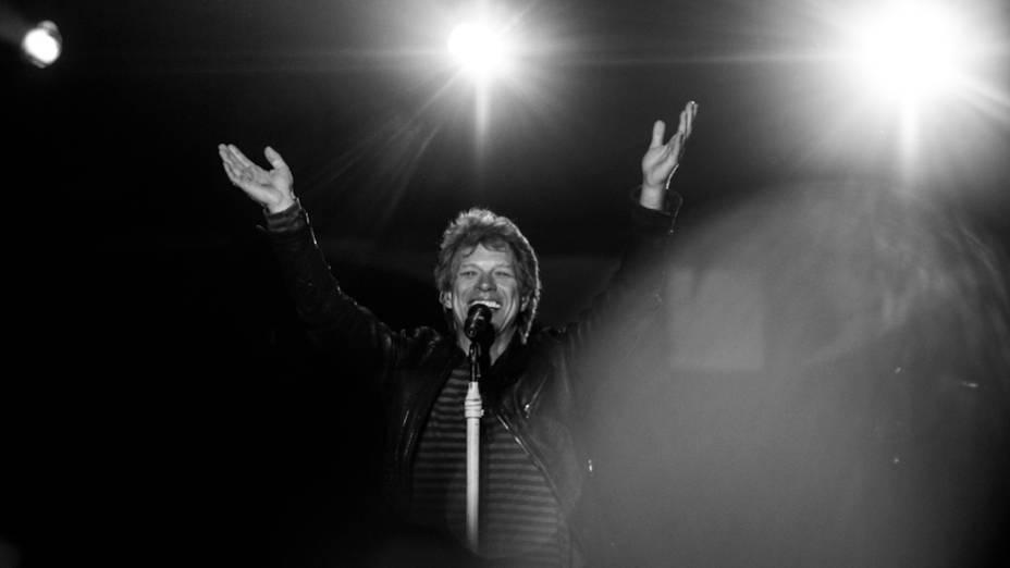 Bon Jovi durante show no Morumbi, em São Paulo