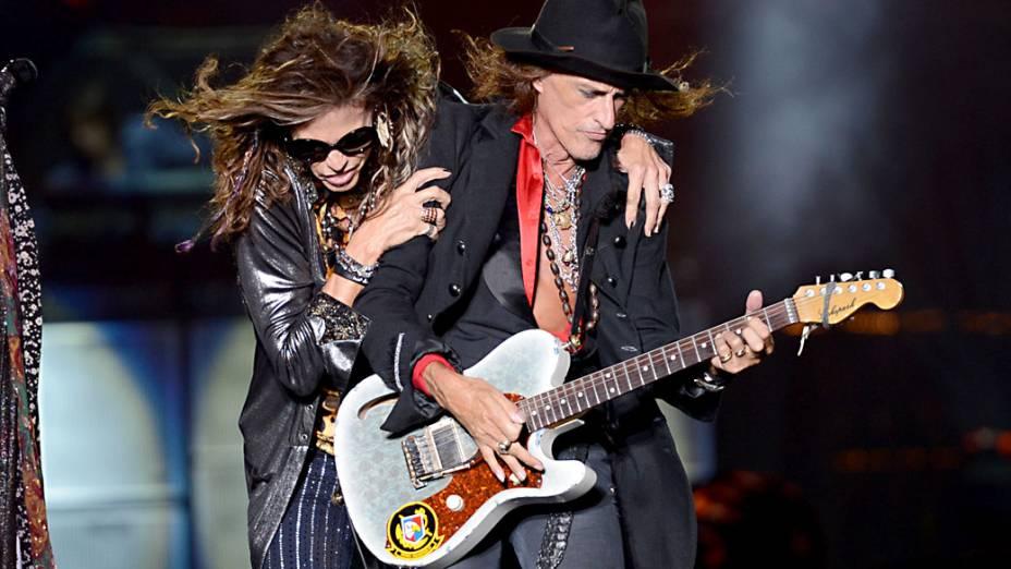 Show da banda Aerosmith no segundo dia do Monsters of Rock