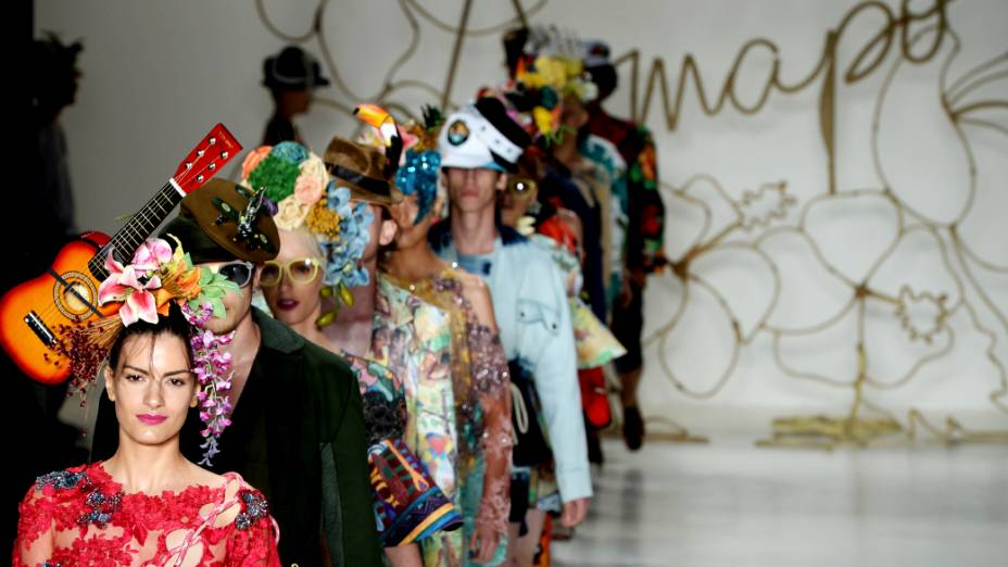 Amapô apresenta coleção durante o quintoe último dia da São Paulo Fashion Week