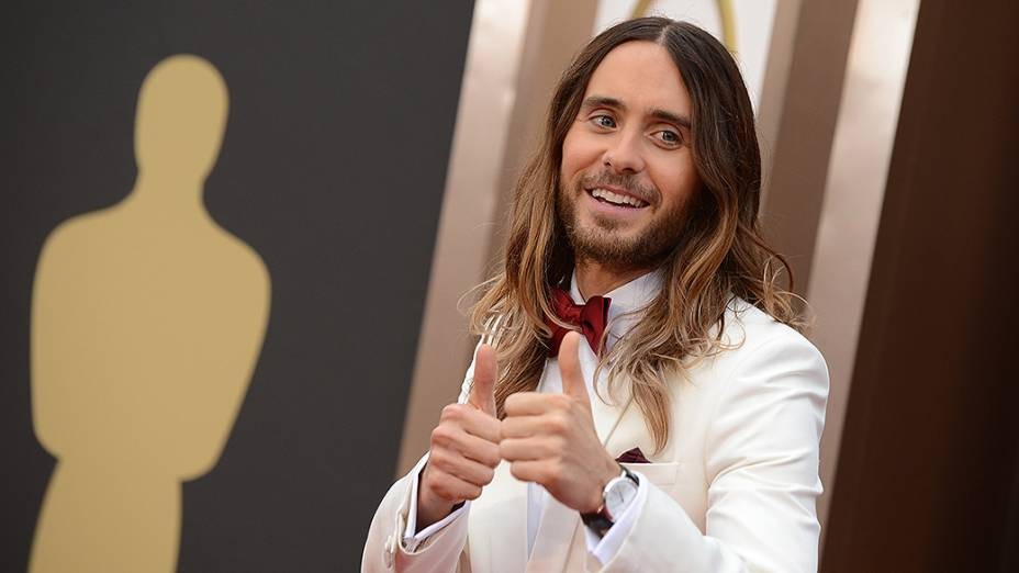 Jared Leto no tapete vermelho do Oscar 2014