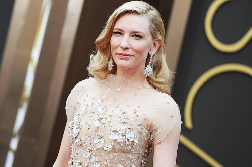 Cate Blanchett na chegada para a cerimônia do Oscar 2014