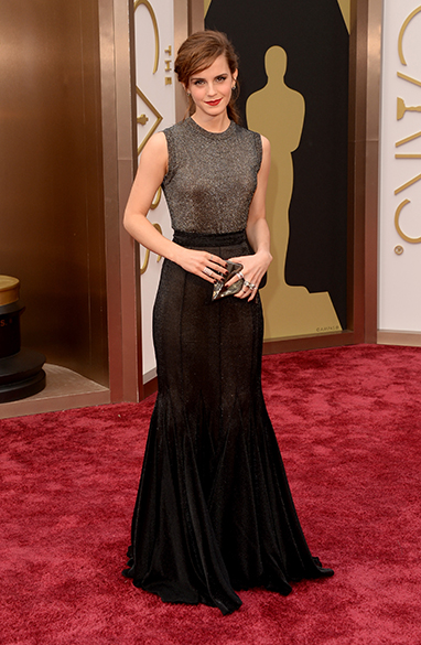 Emma Watson na chegada para a cerimônia do Oscar 2014