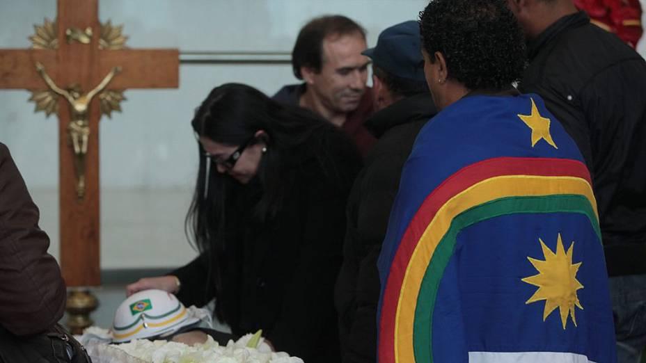 Guadalupe Mendonça no velório de Dominguinhos, na Assembleia Legislativa de São Paulo