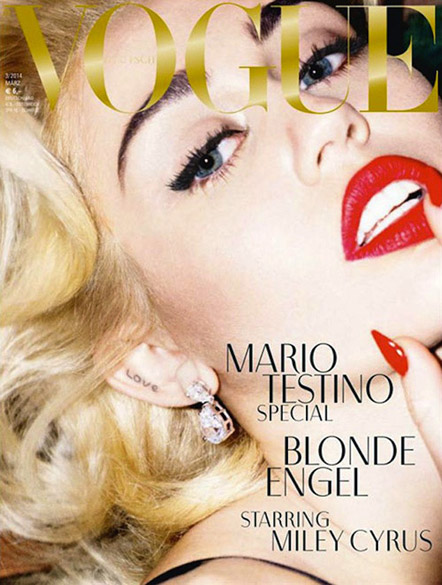 Miley Cyrus como Marilyn Monroe na capa da Vogue alemã