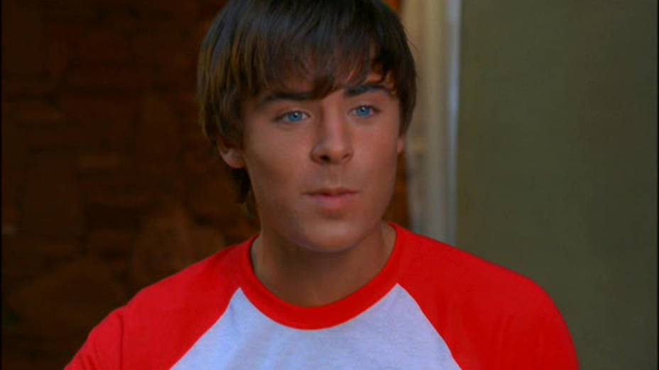 Zac Efron (Troy Bolton) no filme High School Musical 2