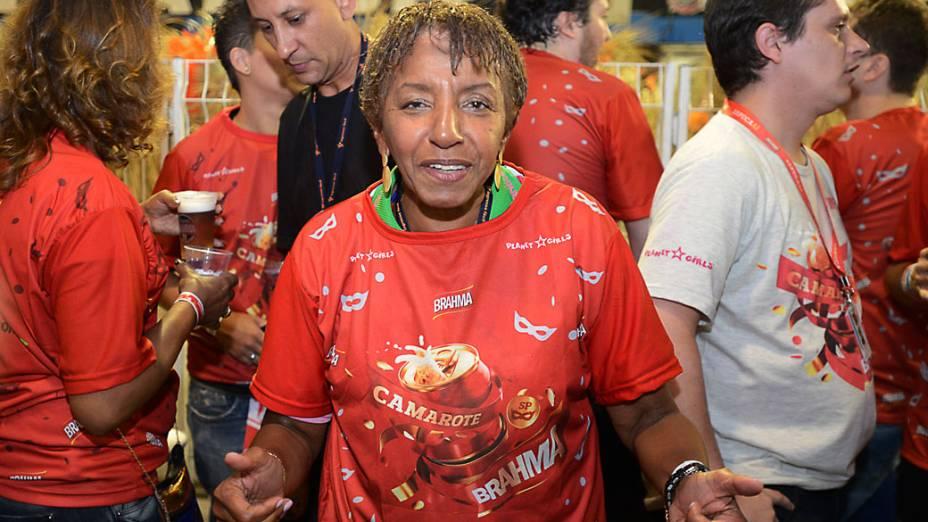 Leci Brandão prestigiou o desfile da Nenê de Vila Matilde em São Paulo