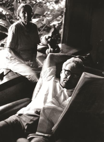 Jorge Amado e sua mãe, D. Lalu, em 1996