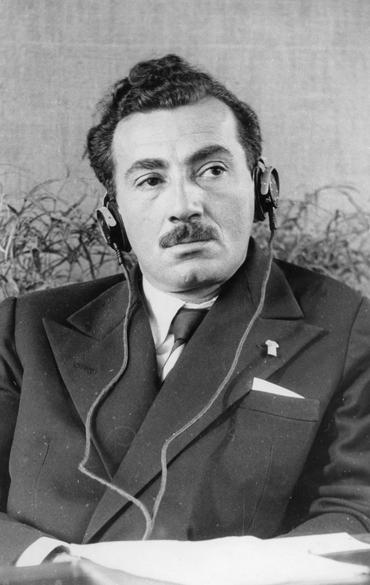 Jorge Amado na delegação brasileira do Congresso Mundial de Intelectuais, em 1948