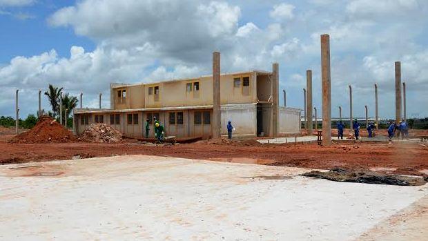 Local onde está sendo construída a base do sistema de monitoramento de presos por tornozeleira eletrônica em São Luís, Maranhão