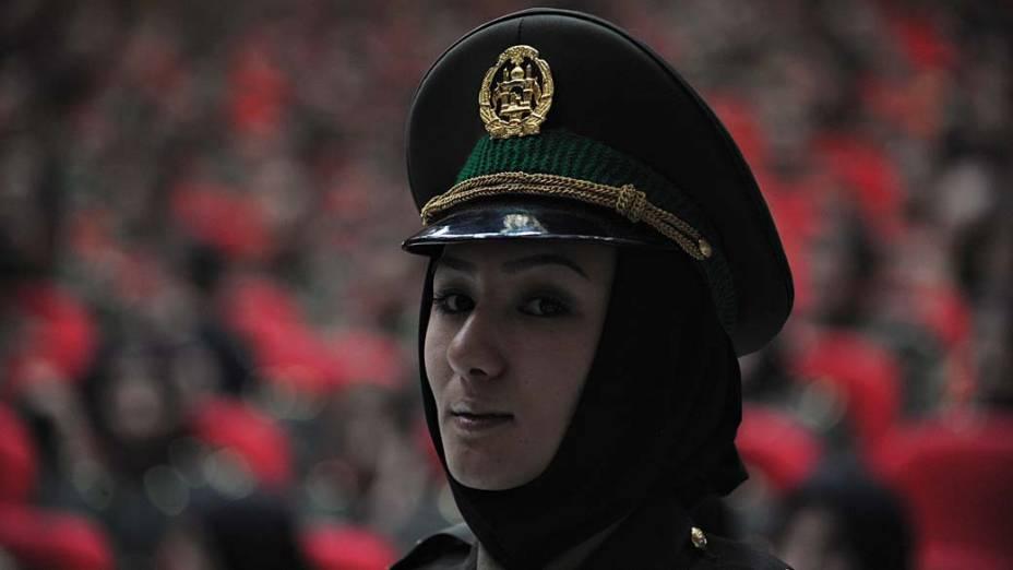 Cerimônia de graduação de membros do exército em Cabul, no Afeganistão