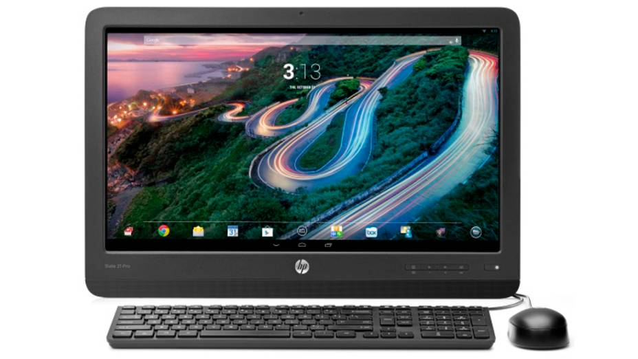 Slate 21 Pro, da HP, é um all-in-one voltado para uso em empresas que adota Android e Windows 8