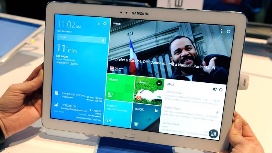 Galaxy Tab Pro, tablet da Samsung com tela de 12,2 polegadas
