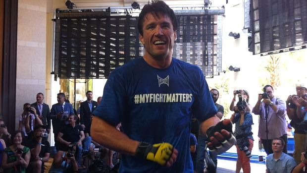 Chael Sonnen nos treinos livres para o UFC 148, em Las Vegas