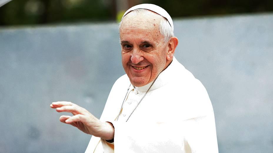 Papa Francisco chega em Aparecida