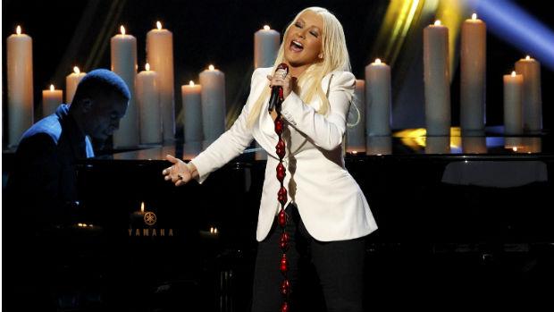 A cantora Christina Aguilera