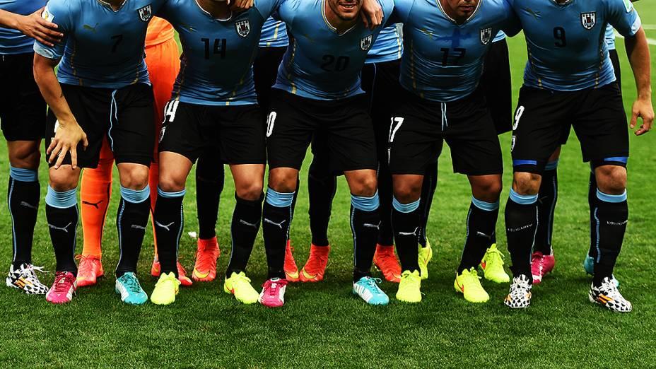 Jogadores do Uruguai no Itaquerão