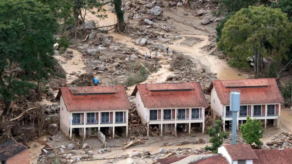 Destruição causada pelas chuvas em Teresópolis, Rio de Janeiro - 12/01/2011