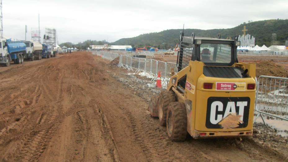Chuvas atrasaram obras em Guaratiba
