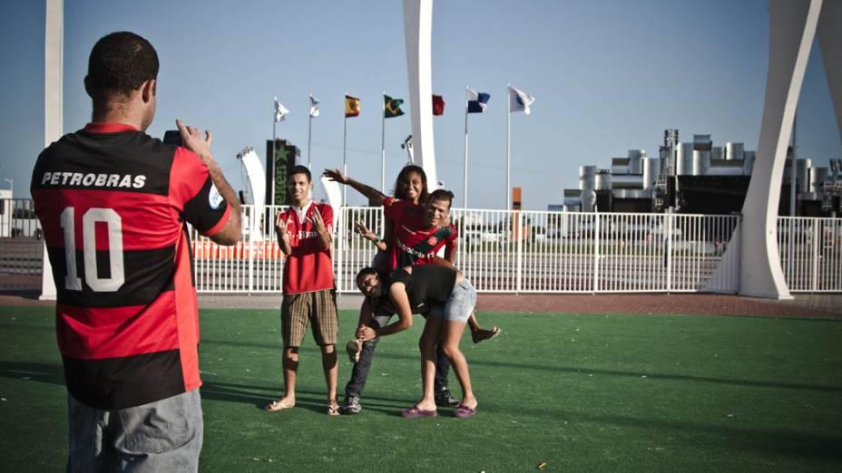 Curiosos visitam a Cidade do Rock após o primeiro final de semana do Rock in Rio