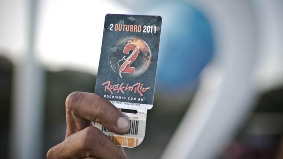 Homem consegue comprar ingresso para o último dia do Rock in Rio