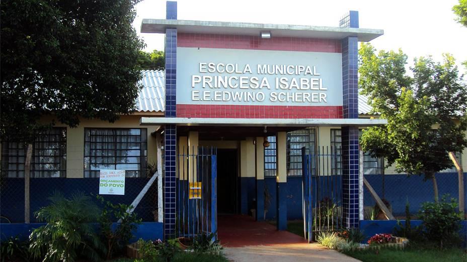 Escola Edwino Scherer, revitalizada e localizada no mesmo terreno onde estudou dom Odilo
