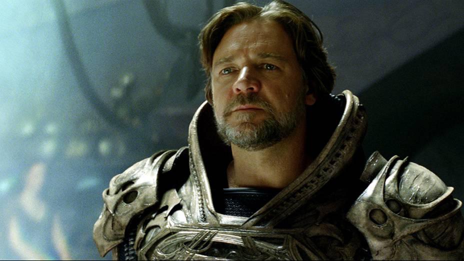 """Jor-El (Russell Crowe), no filme """"Homem de Aço"""""""