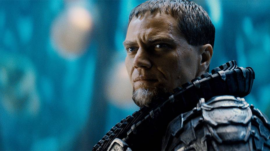 "General Zod (Michael Shannon), no filme ""Homem de Aço"""