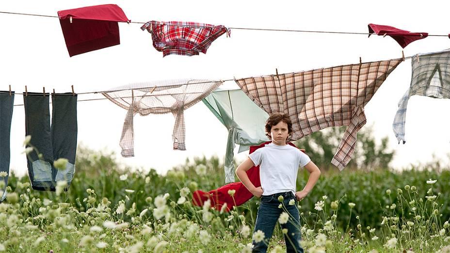 """Clark Kent aos 9 anos (Cooper Timberline), no filme """"Homem de Aço"""""""