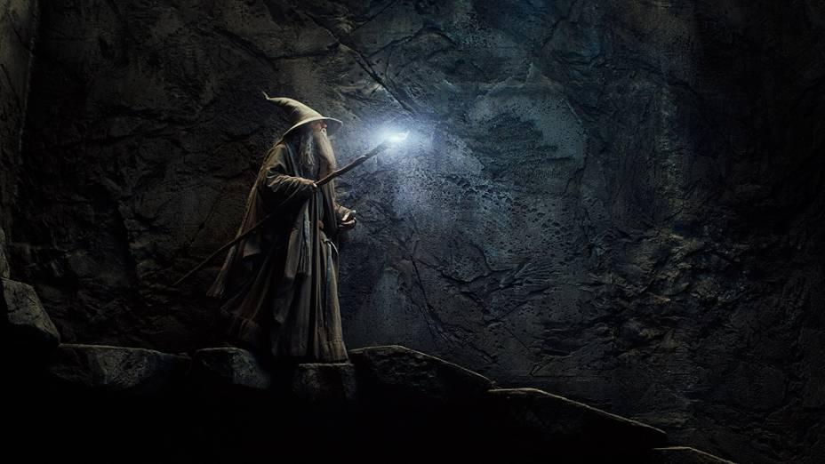 O mago Gandalf (Ian McKellen) em cena do filme O Hobbit - A Desolação de Smaug