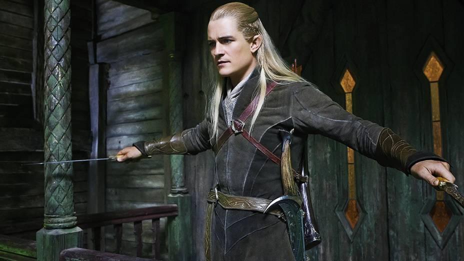 O elfo Legolas (Orlando Bloom) em cena do filme O Hobbit - A Desolação de Smaug