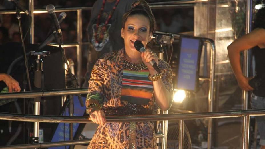 Claudia Leitte no carnaval de Salvador, em 20/02/2012