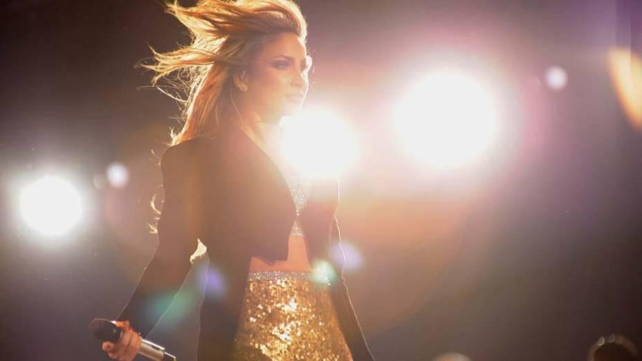 Claudia Leitte durante show no palco Mundo, no primeiro dia do Rock in Rio, em 23/09/2011