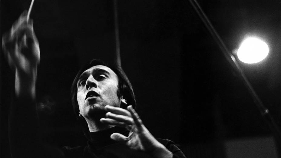 O maestro italiano Claudio Abbado, em 1970