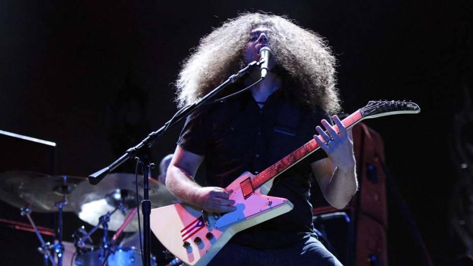 Show da banda Coheed and Cambria no palco Mundo, no terceiro dia do Rock in Rio, em 25/09/11